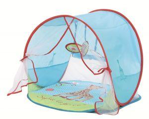 Детский коврик для игры и отдыха с козырьком от солнца LUDI Sophie La Girafe
