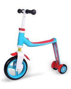Самокат-трансформер Scoot and Ride серии Highwaybaby плюс сине-красный, до 3 лет/20кг
