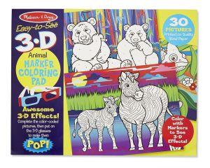 """3D раскраска по точкам """"Животные и растения"""" Melissa & Doug"""