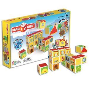 Магнитные кубики Geomag MAGICUBE Замки и дома