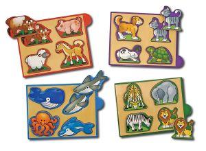 Животные-набор из 4 пазлов Melissa & Doug