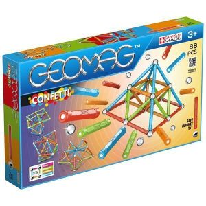 Магнитный конструктор Geomag Confetti 88 деталей