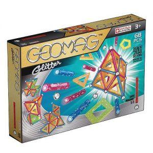 Магнитный конструктор Geomag Color GLITTER 68 деталей