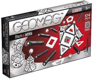 Магнитный конструктор Geomag Panels бело-черный 104 детали