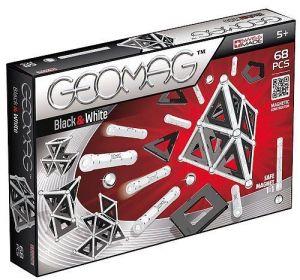 Магнитный конструктор Geomag Panels бело-черный 68 деталей