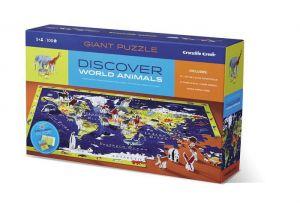 Пазл-игра Карта Мира Crocodile Creek Discover Puzzle 100 элементов