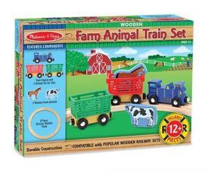 Деревянный набор Melissa & Doug Поезд с животными MD10644