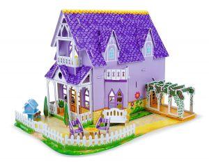 3D пазлы Melissa & Doug Фиолетовый домик MD9461
