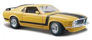 Автомодель Ford Boss Mustang 70 жёлтый (1:24)