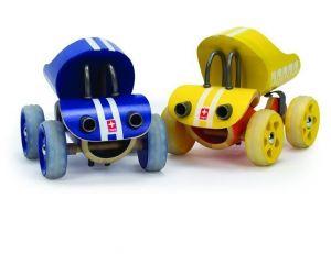 Деревянная игрушка машинка из бамбука E-Truck желтый