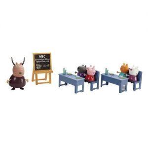 Игровой набор Свинка Пеппа - ИДЕМ В ШКОЛУ (класс, 5 фигурок)