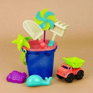 Набор для игры с песком и водой ВЕДЕРЦЕ МОРЕ (9 предметов)