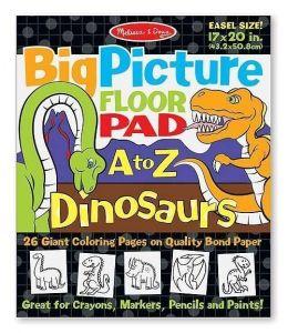 Гигантская раскраска с динозаврами Melissa & Doug Английский алфавит MD19111