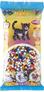 HAMA Набор цветных бусин, 6000 шт., 10 цветов, Midi 5+, термомозаика