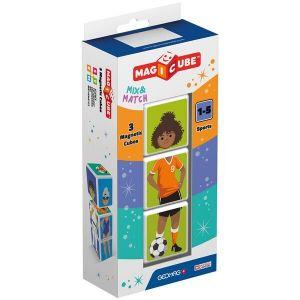 MAGICUBE Sports магнитные кубики Geomag 3 шт