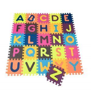 Детский развивающий коврик-пазл ABC