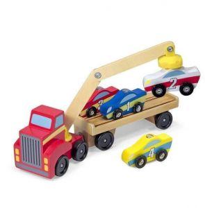 Магнитный деревянный автопогрузчик Melissa & Doug MD19390