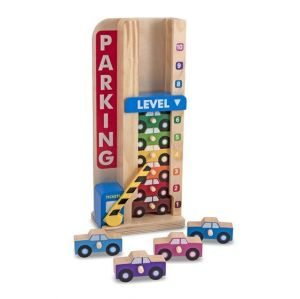 Игровой деревянный набор Парковка и машинки Melissa & Doug MD15182
