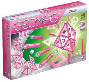 Магнитный конструктор Geomag Panels розовый 68 деталей